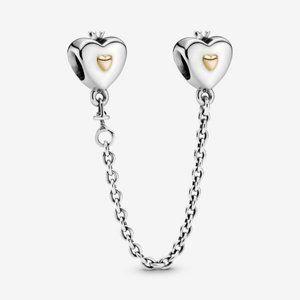 🍓Pandora Heart & Crown Safety Chain Charm